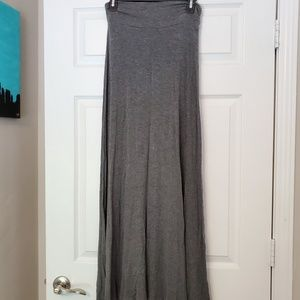 Juniors Grey Maxi Skirt